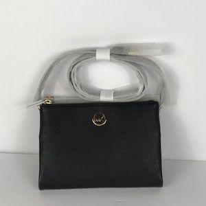 Michael Kors Fulton Black Crossbody Leather
